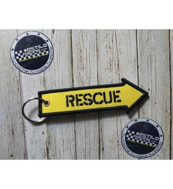 Llavero Rescue tela
