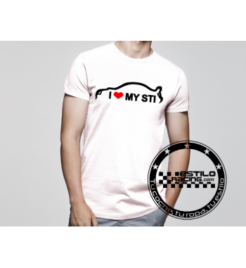 Camiseta I love my STI