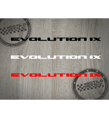 Pegatina Evolution IX...