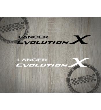 Pegatina Lancer Evolution X...