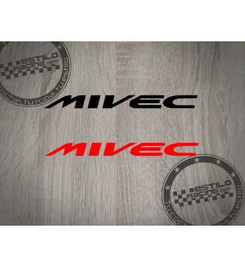 Pegatina MIVEC Mitsubishi