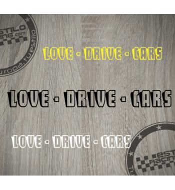 Pegatina Love Drive Cars