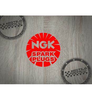 Pegatina NGK spark plugs