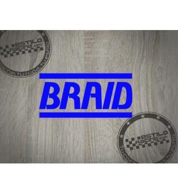 Pegatina Braid