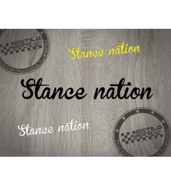 Pegatina Stance Nation