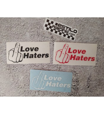 Pegatina love haters
