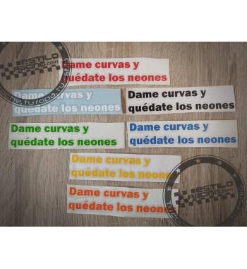Pegatina Dame curvas