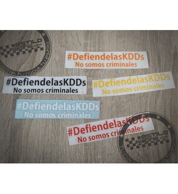 Pegatina DefiendelasKDDs No...