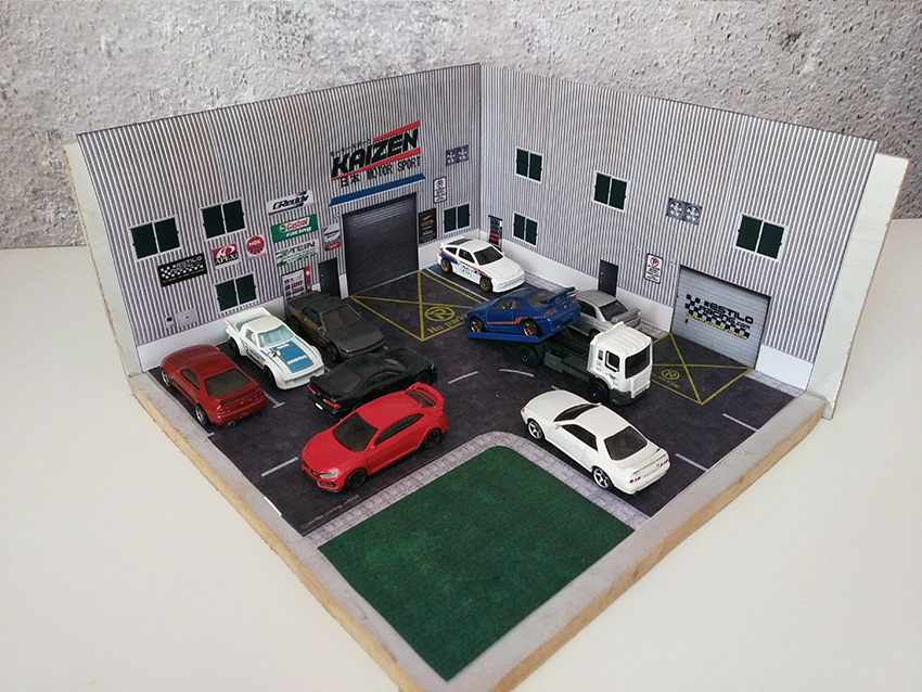 Diorama 1:64 EstiloRacing Hot Wheels Matchbox